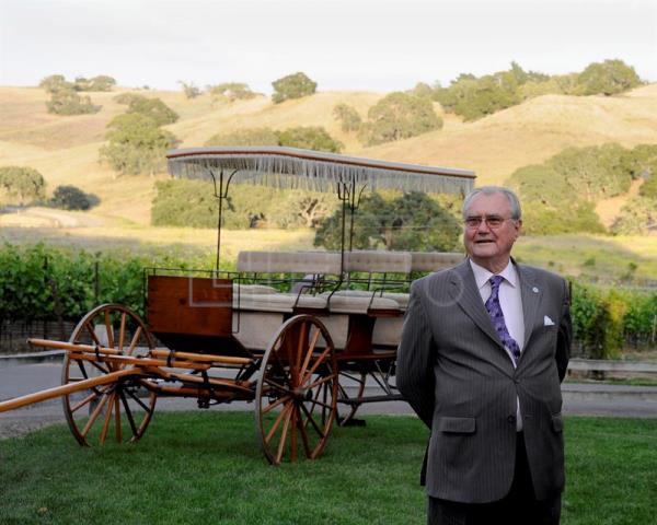 Henrik, Prince Consort of Denmark waits to meet locals at the Rusack Vineyards during his visit to Solvang, California, USA, Jun. 11, 2011. EPA-EFE/FILE/PAUL BUCK