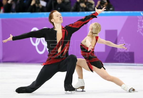 Evgenia Tarasova and Vladimir Morozov, Olympic Athletes of Russia (OAR), perform during the Pair Short Program in the Figure Skating competition at the Gangneung Ice Arena during the PyeongChang 2018 Olympic Games, South Korea, Feb. 14, 2018. EPA-EFE/TATYANA ZENKOVICH