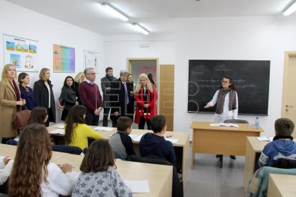 Where Albanian bunkers were once made, an EU-funded school now flourishes