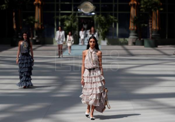 Chanel's Viard transforms Grand Palais into railway station for cruise show