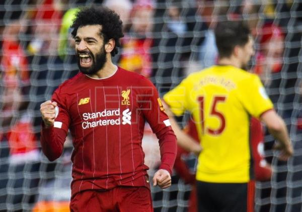 Salah extends Liverpool's winning streak with brace against Watford
