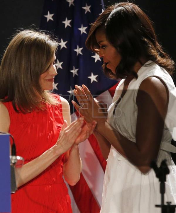 US First Lady Michelle Obama visits Spain