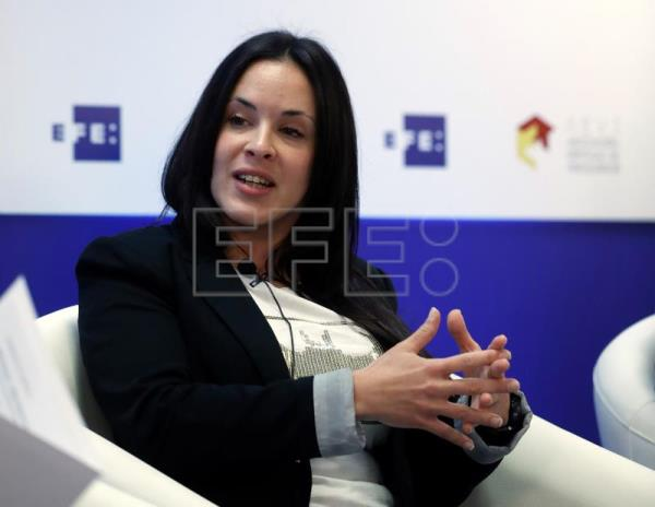 Lucía Perdomo, manager en Sony Interactive Entertainment de la Liga Oficial PlayStation, durante el EFEforum e-Sports. EFE