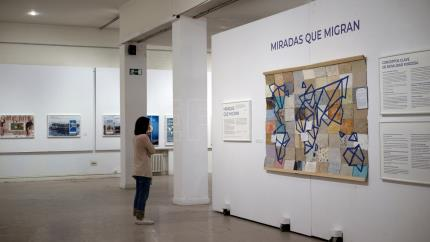Madrid exhibit showcases the plight of migrants with works by art students