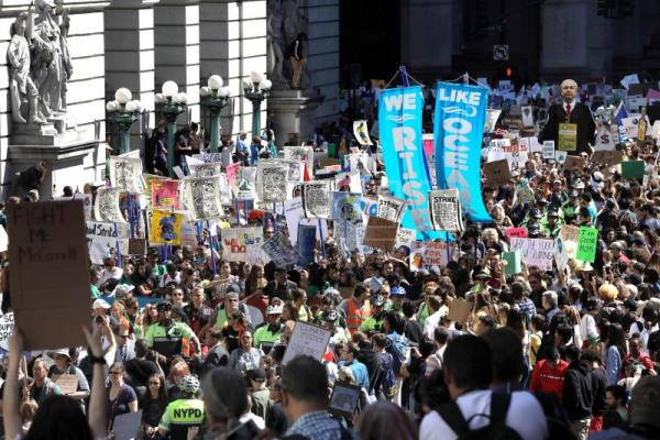 Thousands march in New York to demand action on climate change