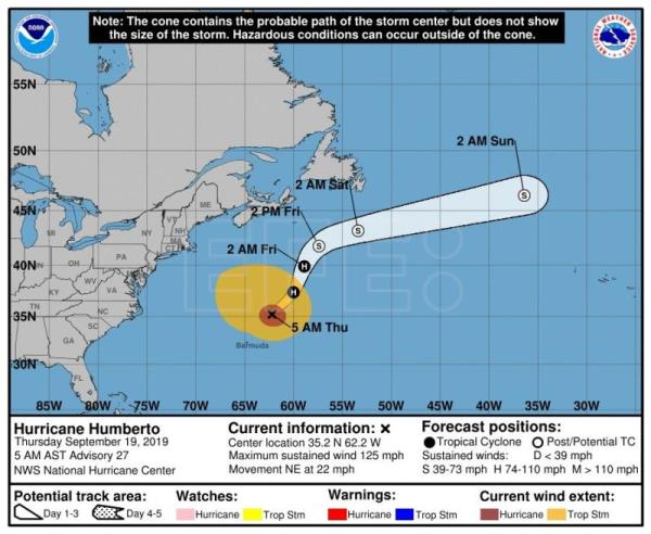 Huracán Jerry se degrada a tormenta tropical al norte de Puerto Rico