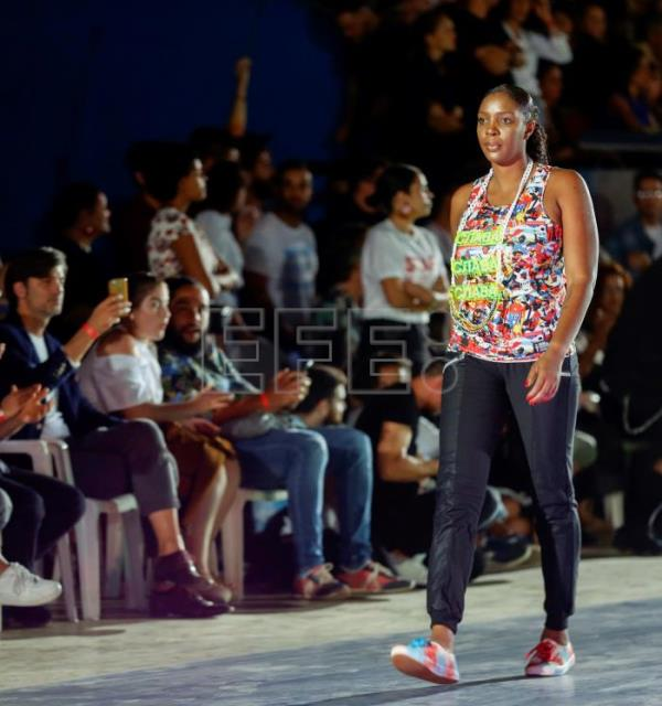 Fashion collection inspired by Cuban athletes