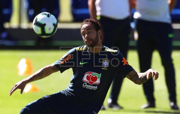 Brazil holds 1st partially closed training session ahead of Copa America