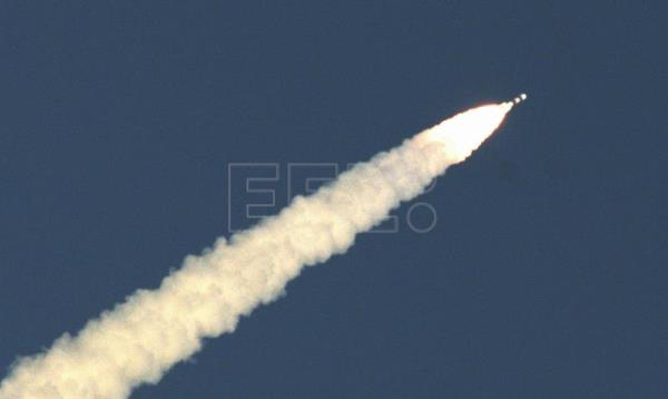 The Indian Space Research Organization (ISRO) Mars Orbiter Mission (MOM) Spacecraft, also called Mangalyaan's Mars Orbiter Spacecraft, blasts off from the Polar Satellite Launch Vehicle (PSLV), carrying in its head India's orbiter, at the Satish Dhawan Space Center Sriharikota in Andhra Pradesh, about 80-kilometer from Chennai, India, Nov. 05, 2013. EPA-EFE/FILE/JAGADEESH NV