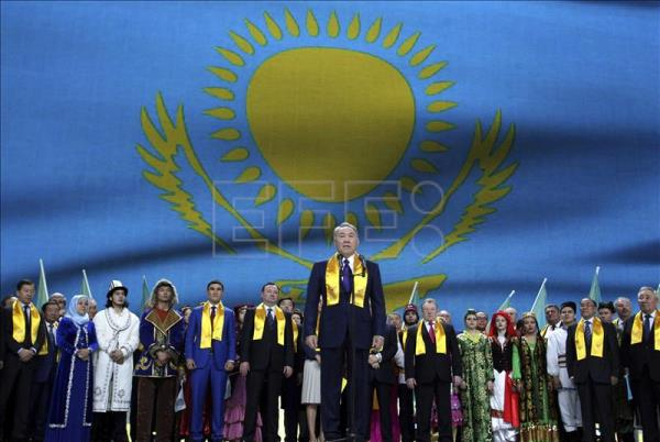 "Nazarbayev praises Kazakh ""unity"" following election victory"