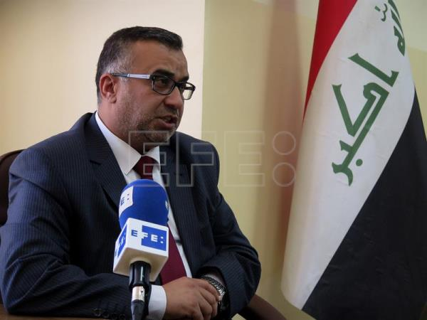Deputy governor of the Iraqi province of Nineveh Hassan al-Allaf during an interview with EFE in Mosul, Iraq, July 17, 2017. EFE/Yaser Yunes