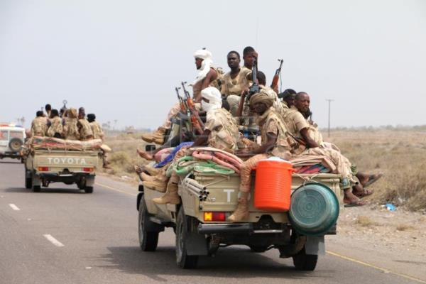 Sudanese forces fighting alongside the Saudi-led coalition in Yemen gather near the outskirts of the western port city of Hodeidah, Yemen, June 12, 2018. EPA-EFE/NAJEEB ALMAHBOOBI