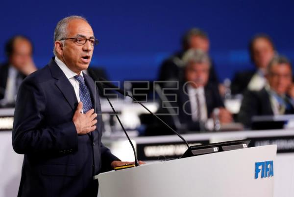 Carlos Cordeiro, co-chairman of the Canada-Mexico-United States 2026 FIFA World Cup bid and president of the United States Soccer Federation speaks during the presentation of the Canada-Mexico-United States 2026 FIFA World Cup bid at the 68th FIFA Congress in Moscow, Russia, June 13, 2018. EPA-EFE/FELIPE TRUEBA