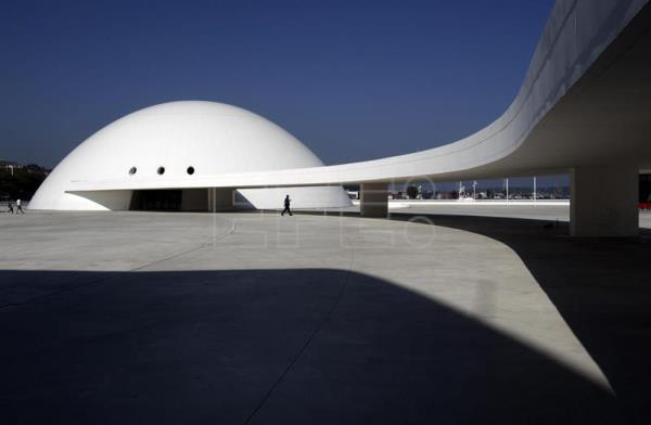 A file photo dated Sept. 27, 2014 shows the Oscar Niemeyer International Cultural Center in Aviles, Spain. EFE/J.L.Cereijido