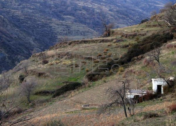 Traditional farmland in the Poquiera gorge in the Alpujarra valley, near Pampaneira, Spain, Feb 9, 2018. EFE/J.J. Guillen