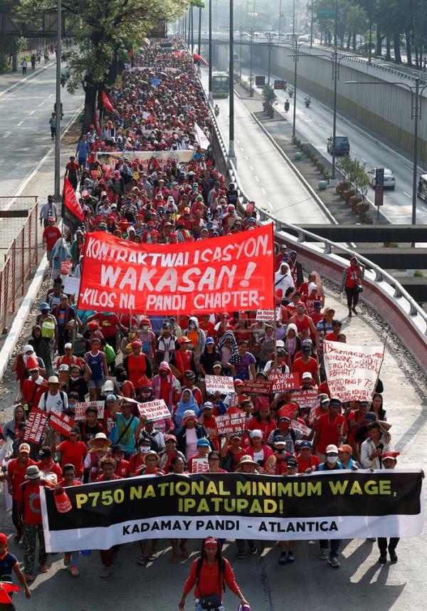 Workers hold rallies across Asia to mark International Labor Day