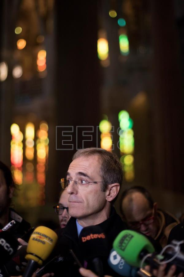 Spanish Sagrada Familia Foundation general director, Xavier Martinez, talks with the media in Barcelona, Catalonia, Spain, Jan 3, 2018. Sagrada Familia Basilica increased security measures with metal detectors, scanners, and 12 security agents after last year's terror attack in Barcelona. EFE-EPA/Marta Perez