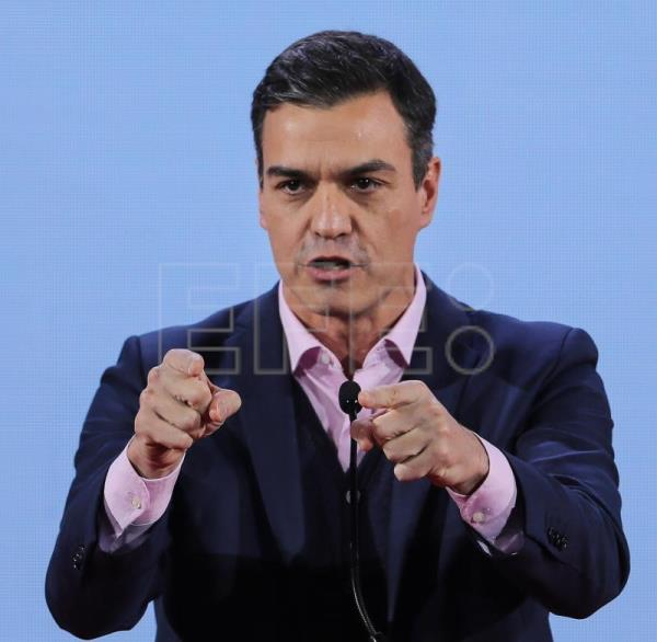 The Prime Minister of Spain Pedro Sanchez speaks during the XI Party of European Socialists Congress under the theme 'Fair, Free, Sustainable - The Progressive Europe We Want', at the ISCTE - University Institute of Lisbon, in Lisbon, Portugal, Dec 8, 2018. EPA-EFE FILE/MIGUEL A. LOPES