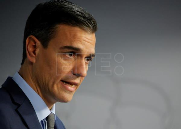 Spain's Prime Minister Pedro Sanchez speaks at a news conference after the end of the European Council in Brussels, Belgium, Dec. 14, 2018. EPA-EFE FILE/JULIEN WARNAND