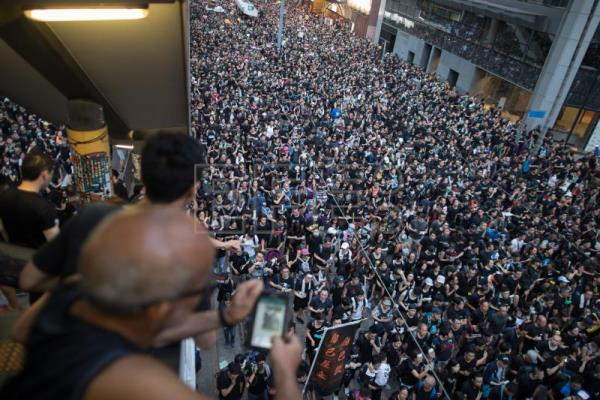 Over 1 million protesters stage Hong Kong rally