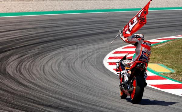 Marquez grabs 4th season victory after winning Catalonia MotoGP