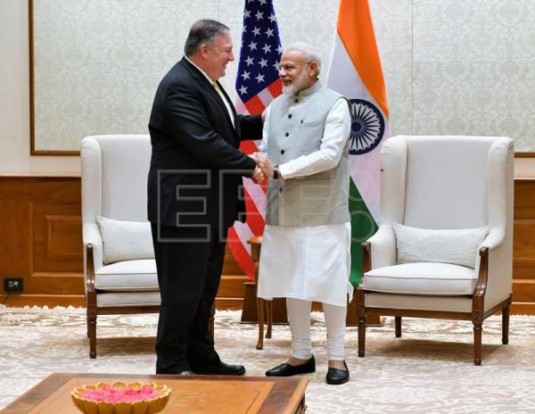 Pompeo meets with Modi in New Delhi following trade tensions