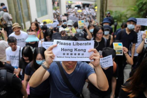 Hong Kong holds more protests ahead of G20 summit in Japan