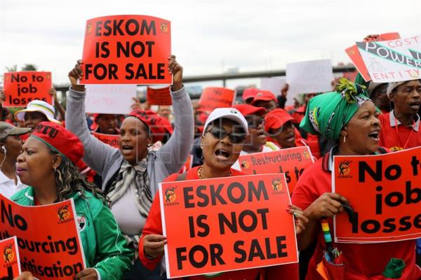 General strike in South Africa to protest unemployment, electricity crisis