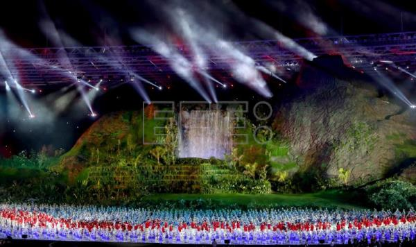 Indeed asian games opening ceremony video