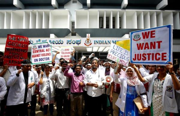 Indian doctors stage strike demanding security at hospitals
