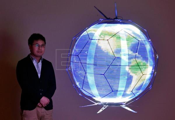 Japanese firm makes first drone that reproduces spherical images in flight