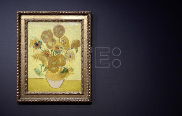 The Sunflowers painting of Dutch artist Vincent Van Gogh is back at the Van Gogh Museum in Amsterdam, The Netherlands, April 26, 2013. EPA-EFE FILE/LEX VAN LIESHOUT