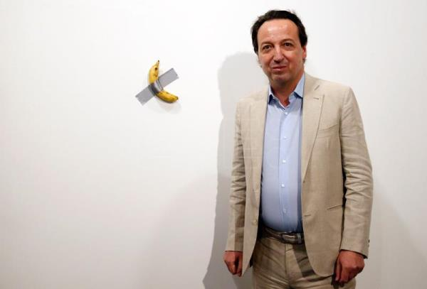 Art Basel Miami Beach banana ends up where it should
