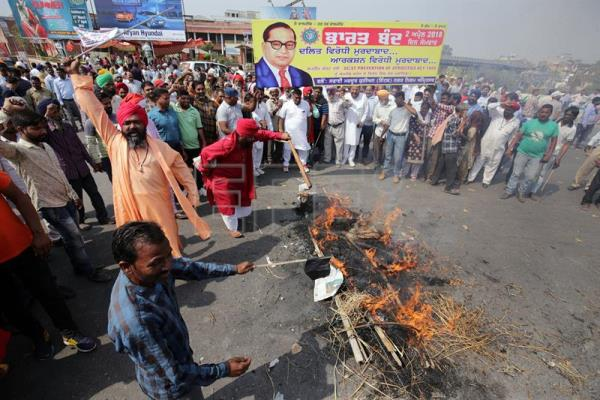 Protesters block Amritsar road as part of nationwide Dalit strike