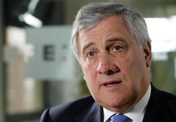 President of the European Parliament Antonio Tajani during an interview with Spanish news agency EFE in Madrid, Spain, on Feb. 11, 2017. EFE/Angel Diaz
