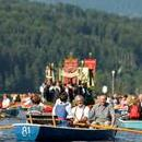 Boats are seen during the annual Corpus Christi procession on Lake Staffelsee near Seehausen, Germany, June 15, 2017. EPA/PHILIPP GUELLAND