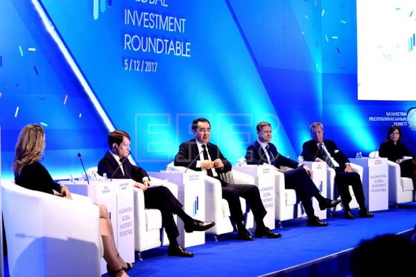 Photo provided by Kazakhstan's Prime Minister Office, showing Prime Minister Bakhytzhan Sagintayev during the Kazakhstan Global Investment Roundtable, in Astana, Kazakhstan on Dec. 5, 2017. EPE-EFE/Kazakhstan's Prime Minister Office