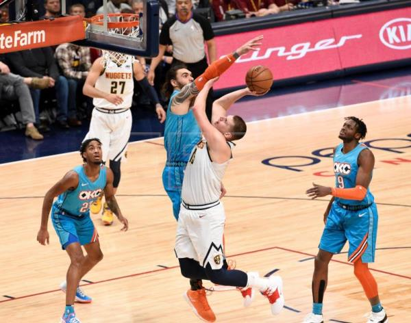 af640628e Jokic makes difference in Nuggets  121-112 win against Thunder ...