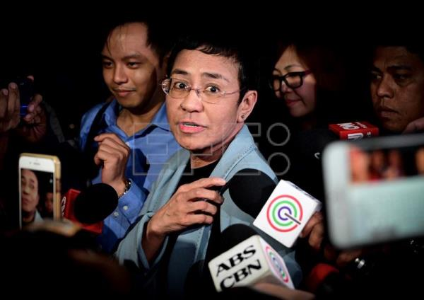Philippine journalist Maria Ressa arrested in Manila