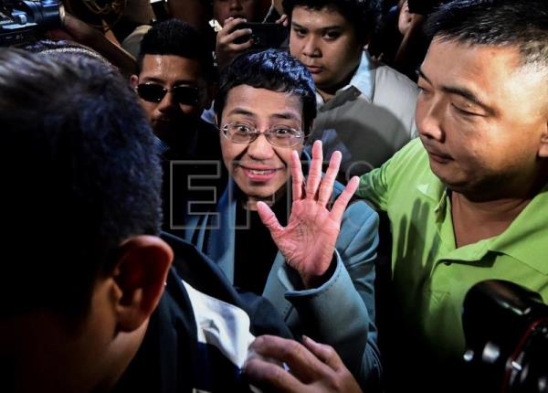 Philippine journalist Maria Ressa freed after posting bail