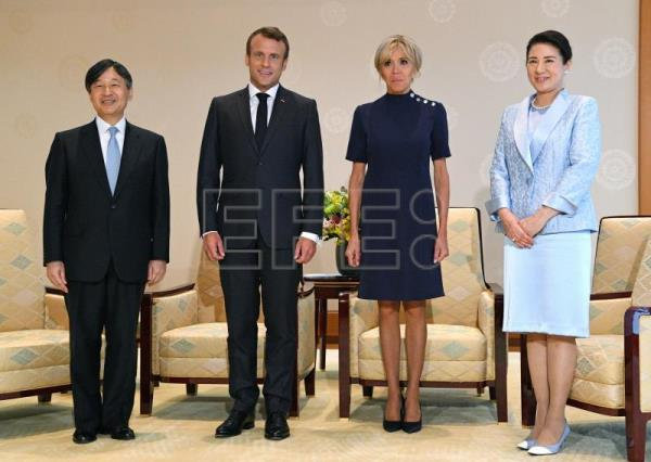 Macron received by Japanese emperor in Tokyo's Imperial