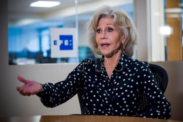 Actress and climate activist Jane Fonda interview in DC