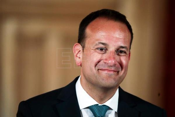 Irish Leo Varadkar during a press conference after a meeting with British Prime Minister Theresa May (not seen) at 10 Downing Street in London, United Kingdom, June 19, 2017. EPA/SIMON DAWSON/POOL