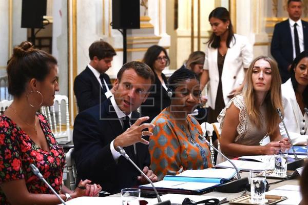 Members of the G7 Advisory Board for Gender Equality meeting at the Elysee Palace in Paris