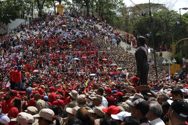 Venezuelans stage demonstrations on May Day before presidential election