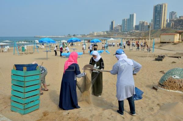 Lebanese Activists And Students Take Part In An Event Called Operation Blue To