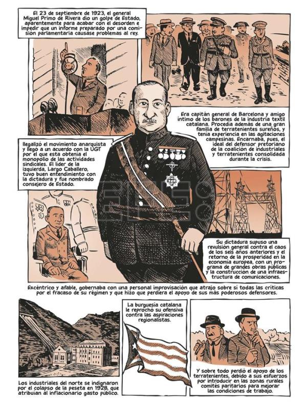 "Imagen facilitada por la editorial Debate, del cómic ""La Guerra Civil"". EFE"