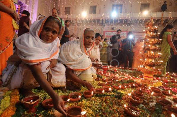 Indian widows break with traditional restraint to celebrate Diwali festival