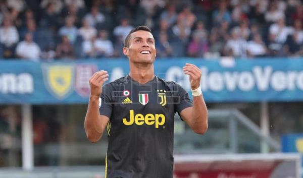 ITALY SOCCER SERIE A:Verona (Italy), 18/08/2018.- Juventus' Cristiano Ronaldo reacts during the Italian Serie A soccer match AC Chievo Verona vs Juventus FC at the Bentegodi stadium in Verona, Italy, 18 August 2018. (Italia) EFE/EPA/FILIPPO VENEZIA
