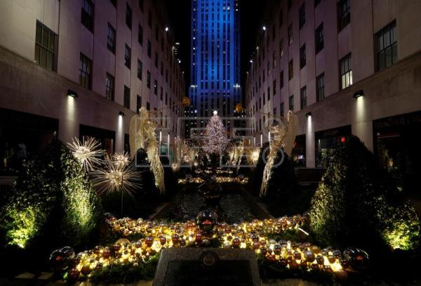 The Rockefeller Center Christmas Tree Is Illuminated During The Annual Tree Lighting Ceremony At The Rockefeller